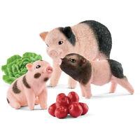 Schleich - Miniature Pig Mother & Piglets Set NEW Toy Figure Farm Animals