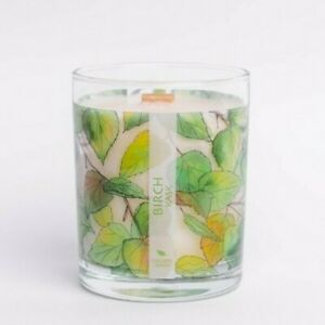 Nordic Wooden Wick Soy Wax Hand Poured Candles Fresh Lime and Lemon Freshness
