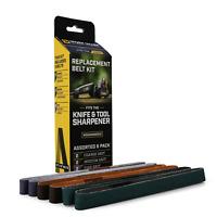 Work Sharp Belts for Knife Sharpener, Assorted Grits, 6 Pack, WSSA0002012 -Dealr