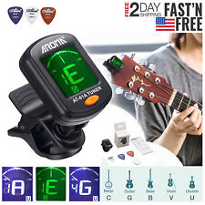 Digital Chromatic LCD Clip-On Electric Tuner for Bass Guitar Ukulele Violin USA