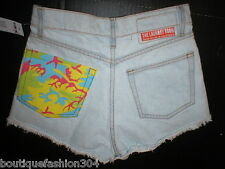 New NWT $98 Womens USA 25 The Laundry Room Shorts Cut off Frayed Jean High Waist