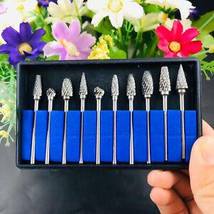 10pcs Dental Tungsten Steel Carbide Burs 2.35mm Burrs Drill Polishing Cutter