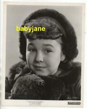 JANE WITHERS ORIGINAL 8X10 PHOTO CHILD ACTOR 1936 PORTRAIT LITTLE MISS NOBODY