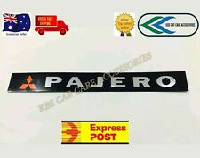PAJERO BADGE EMBLEM STICKER BLACK FOR MITSUBISHI PAJERO 260mm.