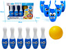Kids Childrens Small Bowling Set 6 Pin Skittle 2 Ball Indoor Summer Fun Toy Game