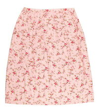 LYSGAARD Pink Floral Women's A Line Calf Casual Summer Skirt S W27 UK 10