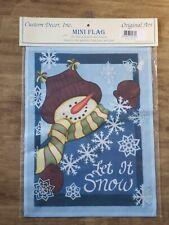 Decorative Garden Flag Custom Design Inc - Paper Flakes Snowman #9403FM