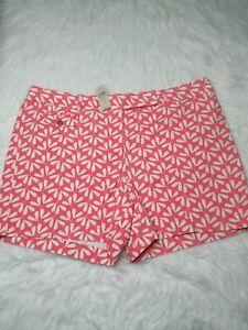Ann Taylor Factory Signature Shorts Plus Sz 18 Pink High Rise Cotton NEW $49.99
