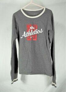 girls size 7/8 Nike athletics gray long sleeve cotton blend shirt