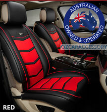 Red Universal Leather Car Seat Covers Full Set Holden Commodore Cruze LDJF1