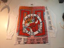 Vintage  CHICAGO BULLS   Unused  90s LONG SLEEVE SHIRT  nba  michael jordan hat