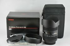 Sigma 12-24mm f4.5-5.6 II DG HSM Full-Frame Lens For Nikon Boxed Mint Condition
