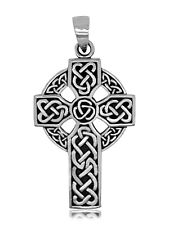 925 solid Sterling Silver New Large Celtic Cross pendant