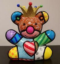 ROMERO BRITTO 'Royalty Mini Bear' Special Anniversary Ed Sculpture Figurine NIB!
