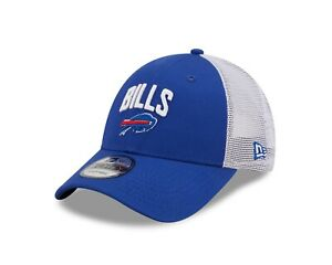 Buffalo Bills New Era Team Title Mesh Trucker 9Forty Adj. Snapback hat