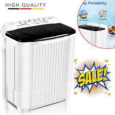 Nictemaw Compact Portable Washing Machine Twin Tub With Drain Pump Spiner Dryer