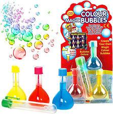 Magic Rainbow Bolle Ragazzi Ragazze Regalo BUBBLE MIX Giocattolo Festa Di Compleanno Borsa Filler