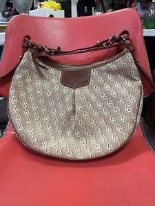 "Dooney & Bourke ""Luisa"" Natural Leather ,brown,tan ,beige Large Hobo Bag"