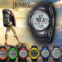 Waterproof Mens Watches Mountaineering Sports Digital LED Date Quartz WristWatch