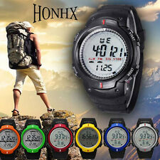 Waterproof Mens Watches Mountaineering Sports Digital LED Date Quartz WristWatch