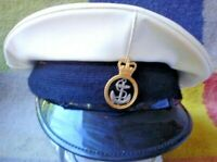 S/H ORIGINAL BRITISH NAVAL HAT WITH BADGE  17 CM SEE ALL PICTURES