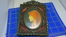 "ANTIQUE ART DECO PICTURE FRAME-MADE IN ITALY-5"" BY 6""-MINT!!"