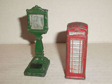 Dinky Meccano red telephone box + weigh Scale