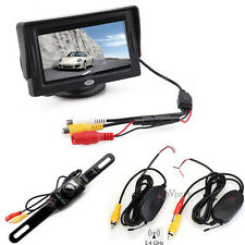 "4.3"" TFT LCD Car Monitor + Wireless Rear View Backup Reverse Cam Night Vision vp"