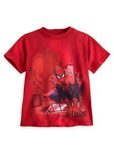 Disney Store Boys Marvel Spider-Man Webbed Wonder Short Sleeve T-Shirt XXS (2/3)