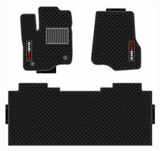 Ford F150 Truck Floor Mats Full Set, Custom 100% Fit, Black Latex Waterproof
