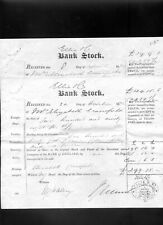 More details for 1872 and 1874 bank of england bank stock  certificates
