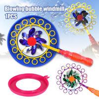 2in1 Seifenblasen Windmühle Seifenblasenpistole Seifenblasen Maschine Spielzeug