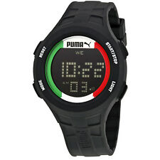 Puma Digital Dial Black Rubber Mens Watch PU911301008U