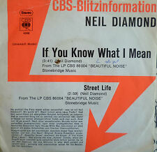 "7"" 1976 CBS BLITZ PRESS ! NEIL DIAMOND If You Know What I Mean /VG+?"