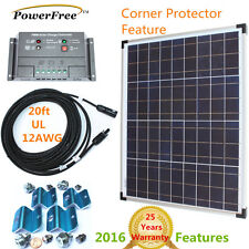 Premium Complete Kit 50w 50 Watt Solar Panel Charger for 12v Battery RV Boat G