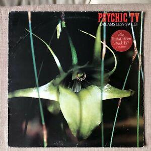 PSYCHIC TV - DREAMS LESS SWEET   VG+ VINYL LP / 1st Pressing / printed inner