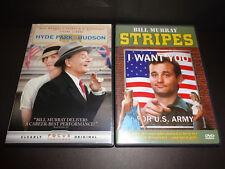 HYDE PARK ON HUDSON & STRIPES-2 DVDs-Bill Murray, Laura Linney, Harold Ramis