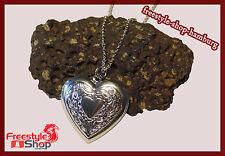 ♥Herz Halskette Anhänger Medallion Foto Bild Herzkette 925er Silber Versilbert♥