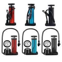 Bicycle Mini Pump Air Pressure Gauge Schrader Presta Hand Bike Tire Inflator New