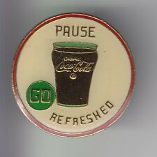 RARE PINS PIN'S .. COCA COLA COKE USA VERRE GLASS PAUSE REFRESHED SODA EPX ~17