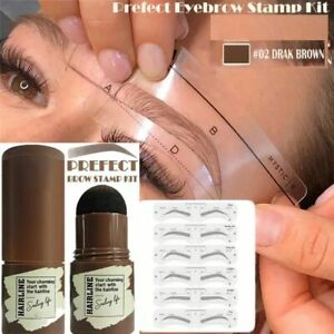 Professional One Step Eye Brow Stamp Shaping Kit Gel Stamp Makeup Stencils