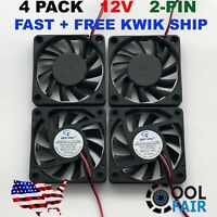 12V 60mm Cooling Fan 6010 PC DC Computer Case CPU 6cm 60x60x10mm 2-Pin 4-Pack