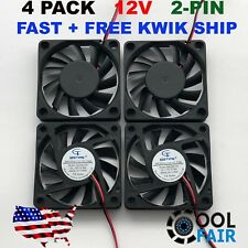 4 Pcs 60mm 10mm 12V Cooling Case Fan 6010 PC Computer CPU 6cm 60x60x10mm 2-Pin