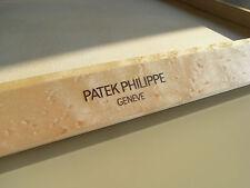 Patek Philippe rare shop leather + wood watch tray for Nautilus chrono, Aquanaut