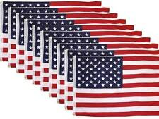 10 Pack Lot US Flag 3' X 5' Ft. USA American Flag Stars Grommets United State...