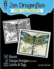 ZEN DRAGONFLY COLORISTS Card Making & Paper Crafting HOT OFF THE PRESS 8506 New