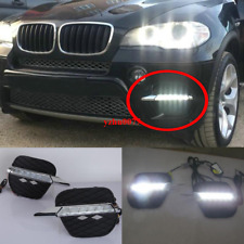 Refit LED front bumper DRL daytime running lights 2pcs For BMW X5 E70 2011-2013