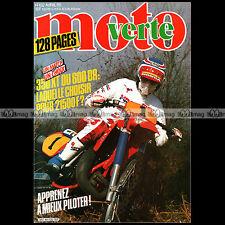 MOTO VERTE N°132-b APRILIA 125 250 TUAREG SUZUKI DR 600 S ENDURO DU TOUQUET 1985