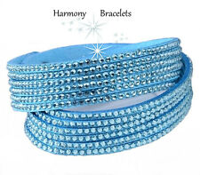Torquoise Swarovski Elements Bling Wrap Slake Bracelet by Harmony Bracelets