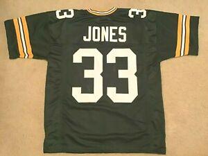 UNSIGNED CUSTOM Sewn Stitched Aaron Jones Green Jersey - M, L, XL, 2XL